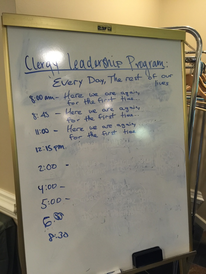 At the end of our last retreat, someone edited the schedule...